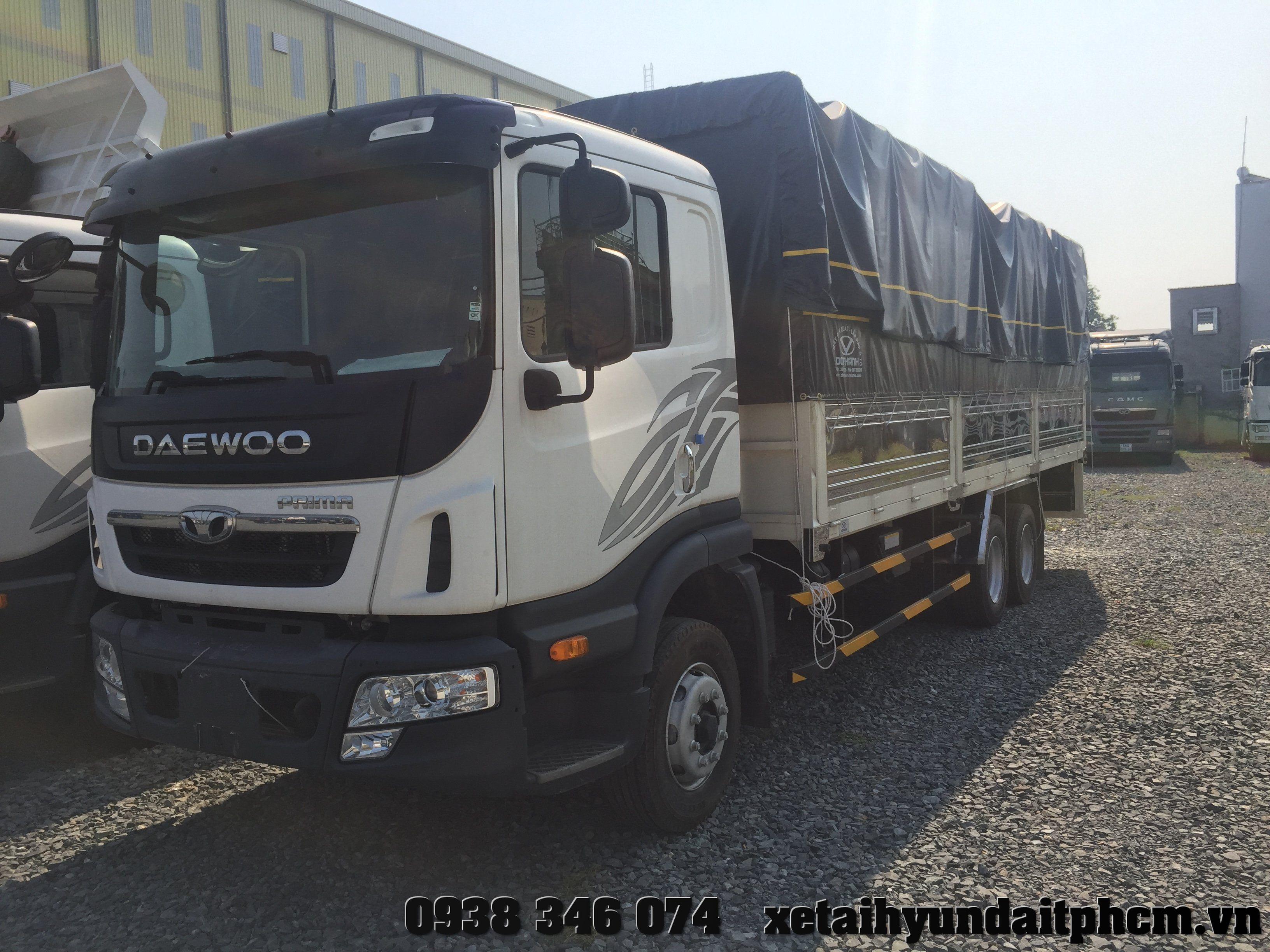 xe tải daewoo prima 3 chân 14 tấn